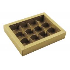 Caixa para 12 Bombons Dourada - Rosângela