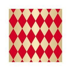 Papel Metalizado para Ovo de Páscoa 69x89 cm c/5 - Pierrot Vermelho - Cromus