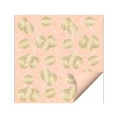 Papel Dupla Face 69x89 c/ 5 - Ovos Ouro Coral - Cromus