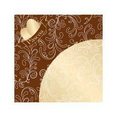 Embalagem Express para Ovo de Páscoa 44x44 cm c/5 - Ovos de Ouro Marrom - Cromus