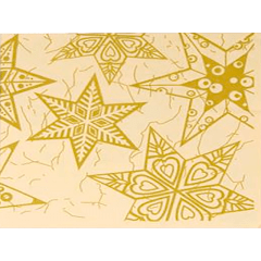 Guardanapo de Natal Estrelas 33x33 cm c/20 - Cromus