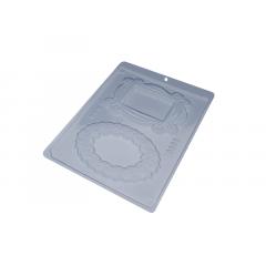Forma de Acetato Porta Retrato Camafeu N9668 - Bwb