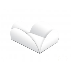 Forma para Doce Caixeta 5x3cm Camafeu Branca c/40 - Ultrafest