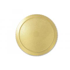 Disco Laminado para Bolos e Tortas Redondo 28cm – Ouro – Ultrafest