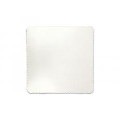 Disco Laminado para Bolos e Tortas Quadrado 28cm – Branco – Ultrafest