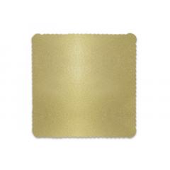Disco Laminado para Bolos e Tortas Quadrado 28cm – Ouro – Ultrafest