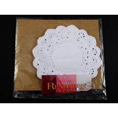 Forro de Papel Rendado Redondo Branco 130 c/24