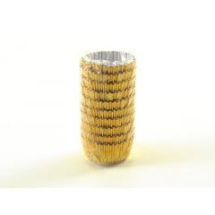 Forminha de Papel Laminado N4 Ouro c/50 Vipel