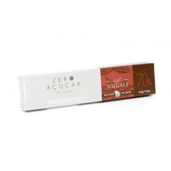 Chocolate Vegano Zero Açúcar 70% 40g - Nugali