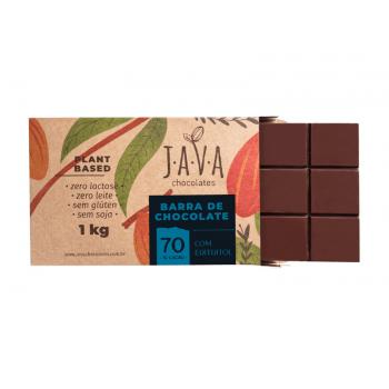 Chocolate Vegano Amargo 70% 1kg - Java Chocolates