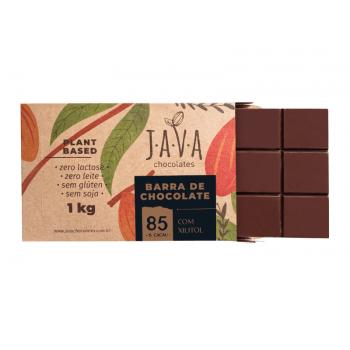 Chocolate Vegano Amargo 85% 1kg - Java Chocolates