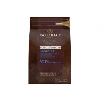 Callets Callebaut Chocolate Amargo 80,1% Kumabo 2,5kg