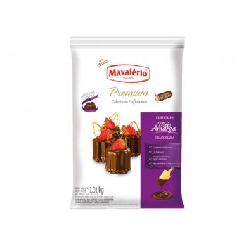 Cobertura Mavalério Premium Chocolate Meio Amargo Gotas 1,01 kg