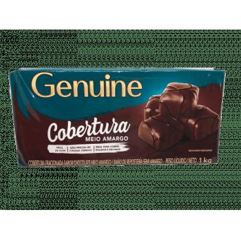 Cobertura Genuine Cargill Chocolate Meio Amargo 1kg
