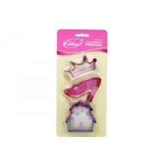 Kit Cortadores Princesa para Biscoitos 3 Peças - Celebrate