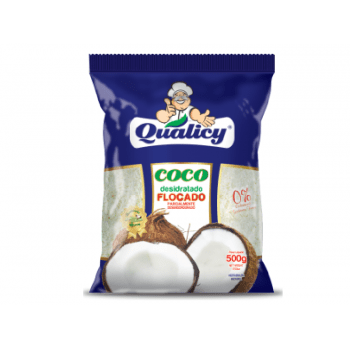 Coco Ralado Flocado Desidratado 500g - Qualicy