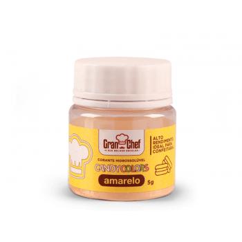 Corante Em Pó Hidro Amarelo-Candy Colors 5g-Gran Chef