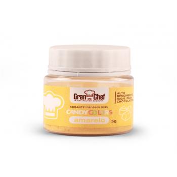 Corante em Pó Lipossolúvel Amarelo 5g Candy Colors - Gran Chef