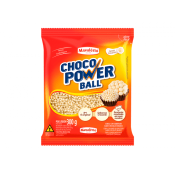 Choco Power Micro Ball Sabor Chocolate Branco 300g - Mavalério