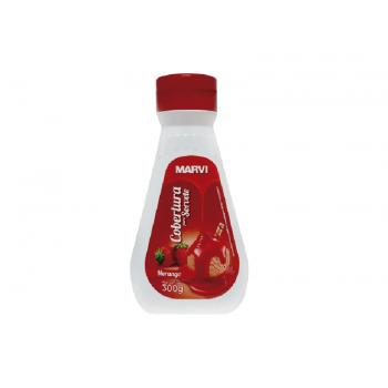 Cobertura para Sorvete de Morango 300g – Marvi