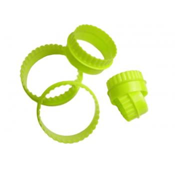 Cortador Plástico Redondo c/ 5 peças - Confeitudo