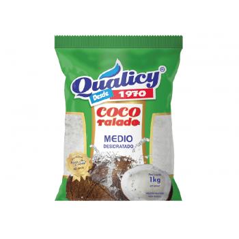 Coco Ralado Desidratado Médio 1kg- Qualicy