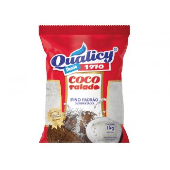 Coco Ralado Fino Desidratado Fino 1kg- Qualicy