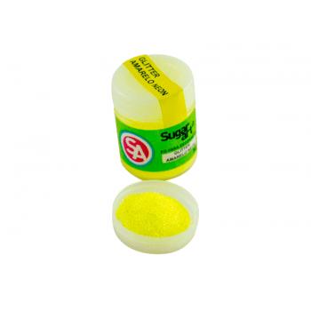 Glitter Comestível para Decoração Amarelo Neon – Sugar Art