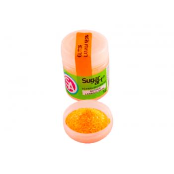 Glitter Comestível para Decoração Laranja Neon – Sugar Art