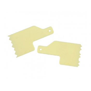 Kit Mini Espátulas Decorativas para Bolo Número 1 c/ 2 unidades - Amarela - Bluestar