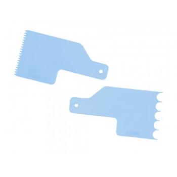 Kit Mini Espátulas Decorativas para Bolo Número 2 c/ 2 unidades - Azul Tiffany - Bluestar