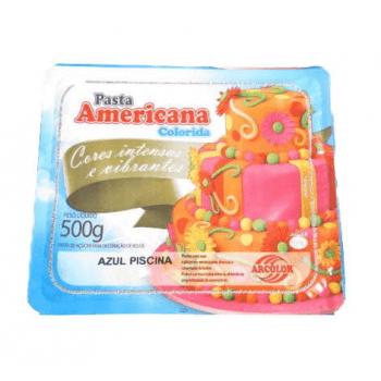 Pasta Americana 500G Azul Piscina Arcolor