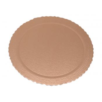 Disco Laminado para Bolos e Tortas Redondo 28cm – Ouro Rosê - Ultrafest