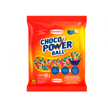 Choco Power Mini Ball Colorida 300g - Mavalério