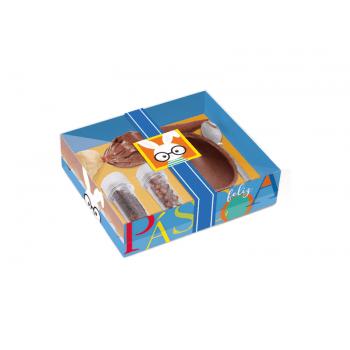 Kit Confeiteiro Páscoa Azul para Ovo 100g - Cores - Cromus