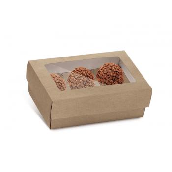Caixa para 6 Doces c/ Forminhas - Kraft - Cromus