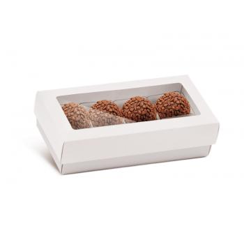 Caixa para 8 Doces c/ Forminhas - Branca - Cromus