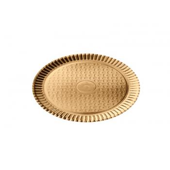 Bandeja de Papel Laminado Redondo Ouro 35 cm– Cromus