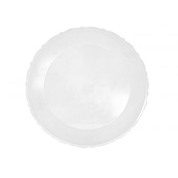 Bandeja de Plástico Redonda Transparente 36 cm - Lsc Toys