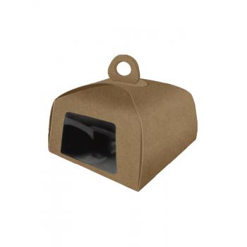 Caixa Kraft Bolo c/Visor 25x25x21 cm -  Patchii Embalagens