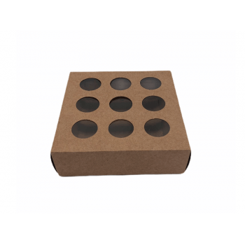 Caixa Kraft com Visor 13x13x4 cm - Cromus