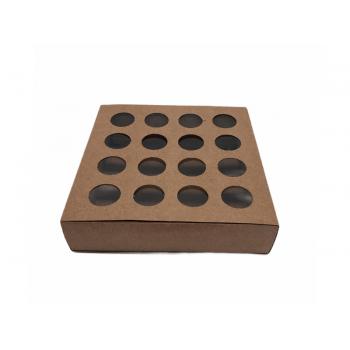 Caixa Kraft com Visor 16,8x16,8x4 - Cromus