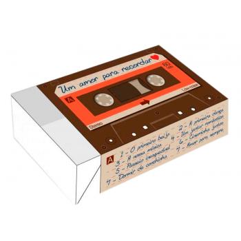 Caixa para 6 Doces 12x8x3,5 cm - Amor para Recordar