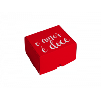 Caixa para Doces Doce Amor 9x9x4,5 cm - Cromus