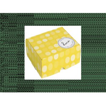 Caixa para Doces Que Seja Doce Amarelo 9x9x4,5 cm - Cromus