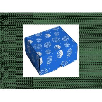 Caixa para Doces Brigadeiro Azul 9x9x4,5 cm - Cromus