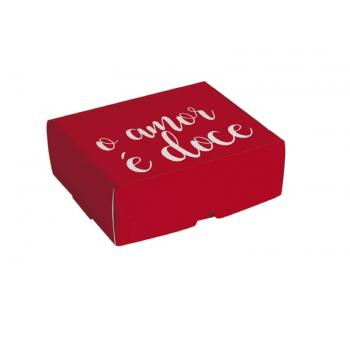 Caixa para Doces Doce Amor 13x10x4,5 cm - Cromus