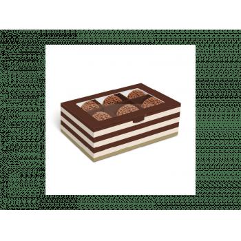 Caixa para Doces Hit Marrom 12,8x8,5x4,5 cm - Cromus