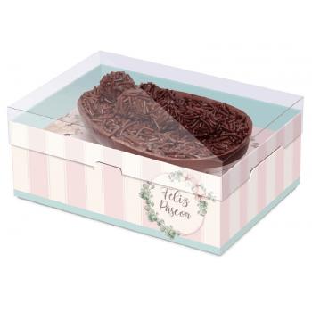 Caixa para Ovo de Colher 250g - Practice Coelha Bella Colorido - Cromus
