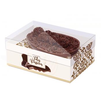 Caixa para Ovo de Colher 500g - Flor de Cacau Marfim - Cromus